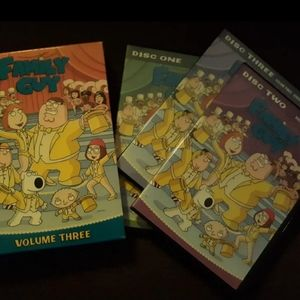 """Collectable Family Guy 3DVDset """"FamilyNight"""